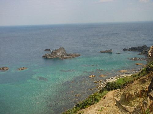 島武意海岸にて